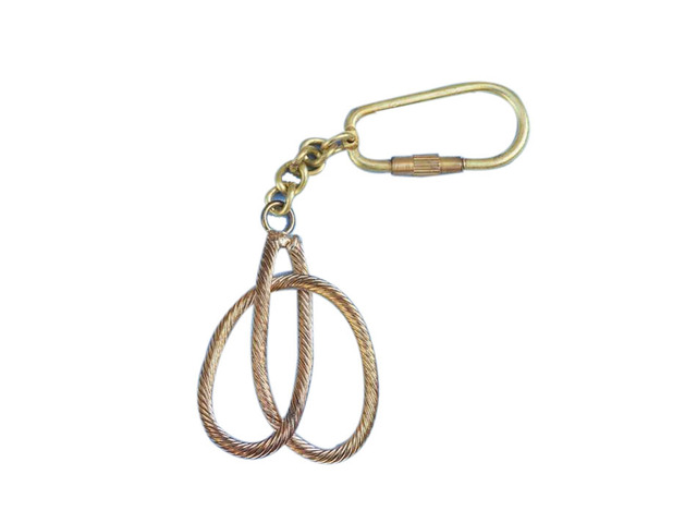 Solid Brass Clove Hitch Knot Key Chain 5