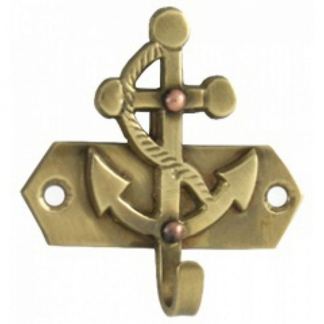 Solid Brass Anchor Key Hook 3