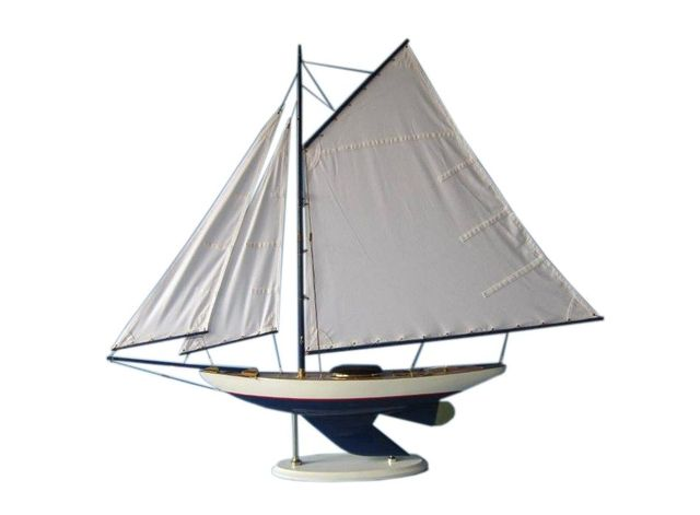 Wooden Laguna Lake Sloop Model Decoration 40