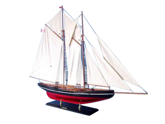 Wooden Bluenose Model Sailboat Decoration 50