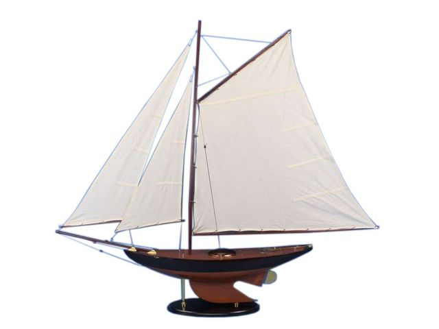 Wooden Newport Sloop Model Sailboat Decoration 50