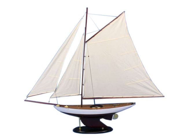 Wooden Bermuda Sloop Model Sailboat Decoration 50