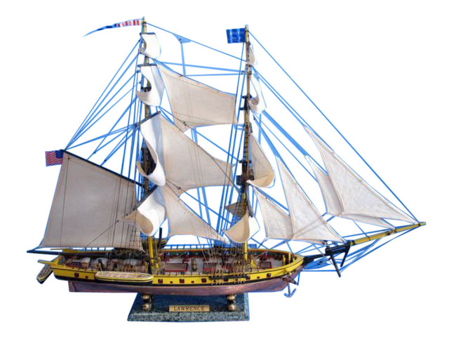 USS Lawrence Limited Tall Model Ship 36