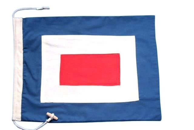 Letter W Cloth Nautical Alphabet Flag Decoration 20