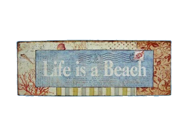 Wooden Life Is A Beach Sign 19