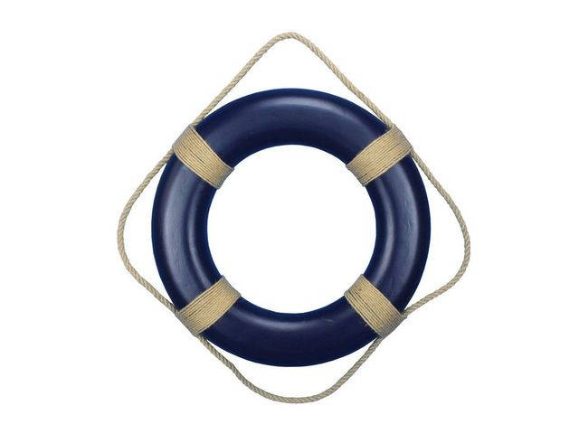 Blue Decorative Life Ring Wall Plaque 20