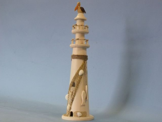 Wooden Pelican with Rope Large Lighthouse 20