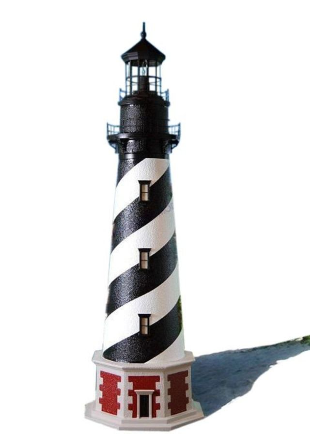 Cape Hatteras Stucco Electric Lawn Lighthouse 144