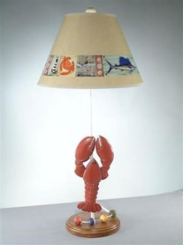 Lobster Electric Lamp with Brent Shade 28