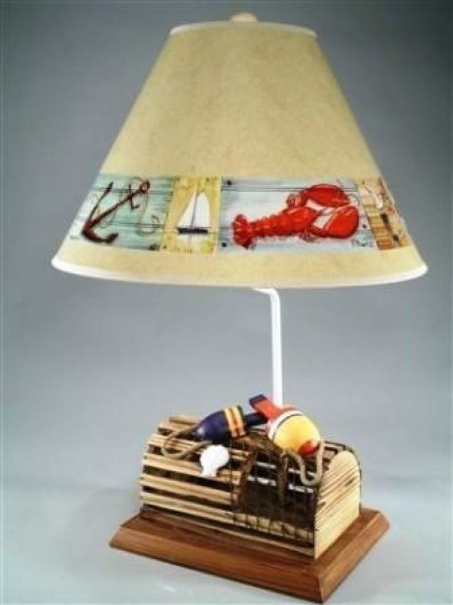 Lobster Trap Eletric Lamp with Brent Shade 28