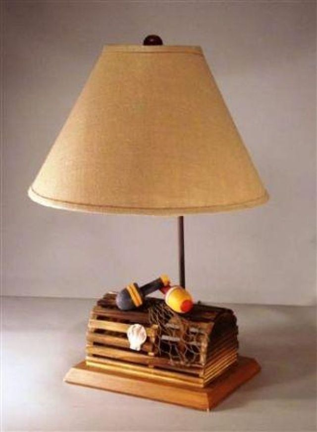 Lobster Trap Electric Lamp 28