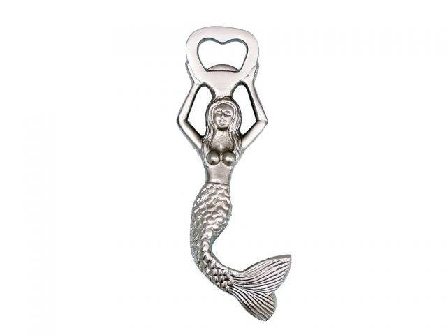 Silver Finish Swimming Mermaid Bottle Opener 7