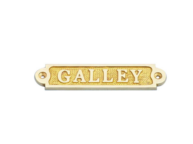 Solid Brass Galley Sign 5