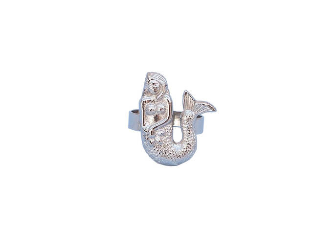 Chrome Mermaid Napkin Ring 2