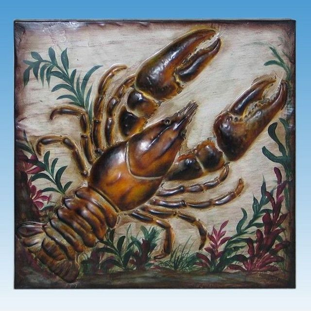 Metal Lobster Beach Wall Art 16