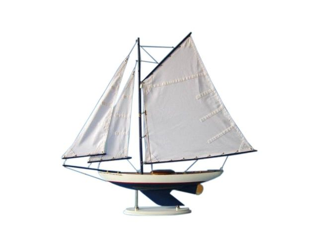 Wooden Laguna Lake Sloop Model Decoration 26