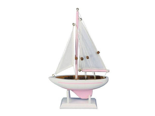 Wooden Pink Pacific Sailer Model Sailboat Decoration 9