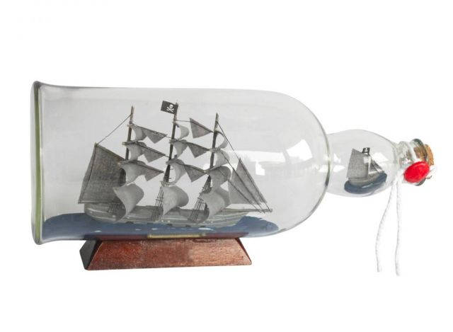 Flying Dutchman Model Ship in a Glass Bottle 11