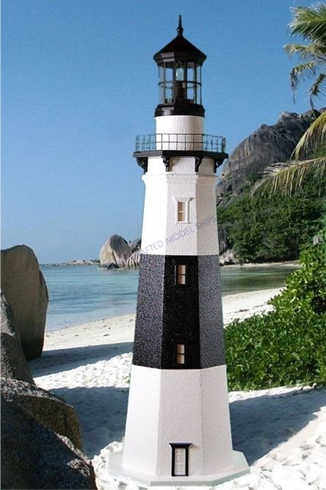 Montauk Stucco Electric Lawn Lighthouse 96