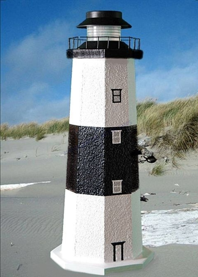 Montauk Stucco Solar Landscape Lighthouse 24