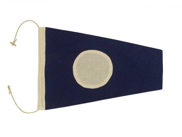 Number 2 - Nautical Cloth Signal Pennant Decoration 20