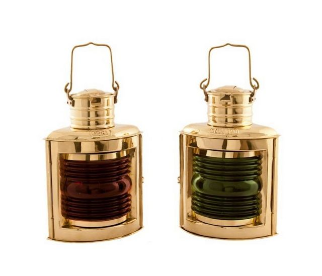Brass Port and Starboard Oil Lantern 10