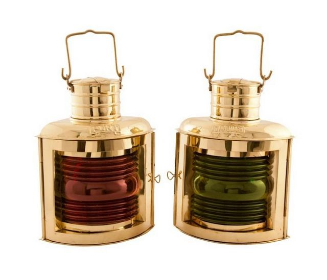 Brass Port and Starboard Oil Lantern 12