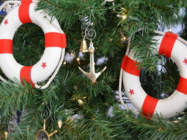Brass Admiralty Pattern Anchor Christmas Tree Ornament