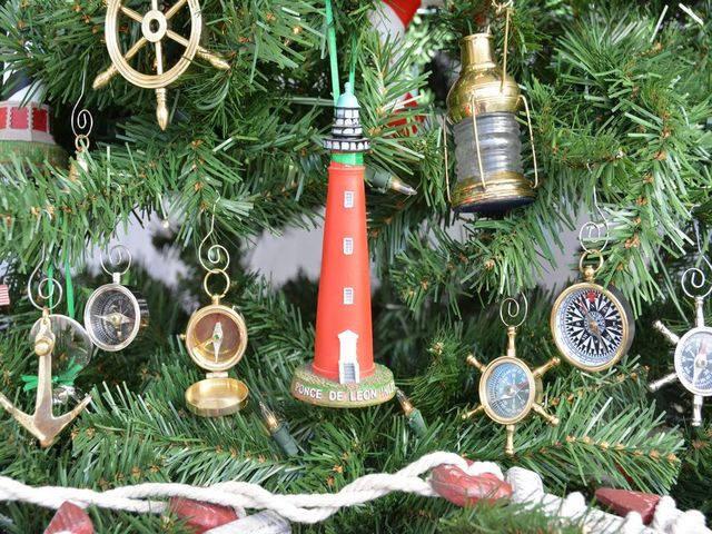 Ponce De Leon Lighthouse Christmas Tree Ornament