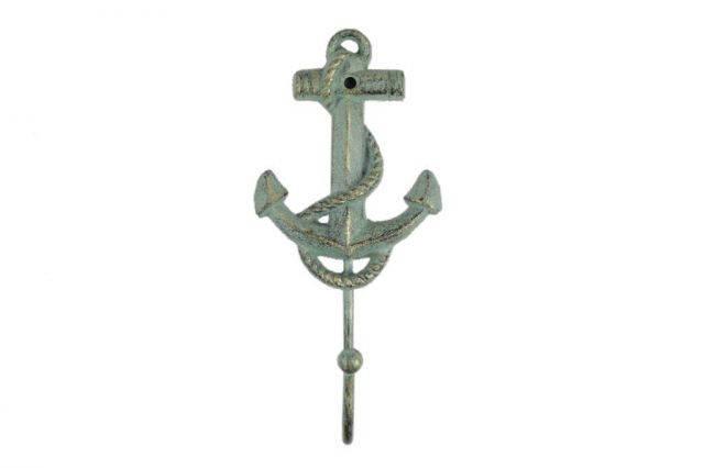 Antique Bronze Cast Iron Anchor Hook 7