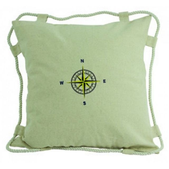 White Compass Pillow 15