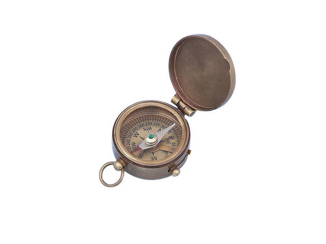 Antique Brass Magellan Compass 2