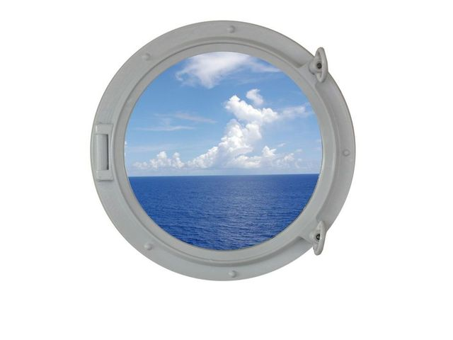 Gloss White Decorative Ship Porthole Window 15