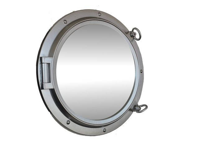 Silver Finish Decorative Ship Porthole Mirror 24