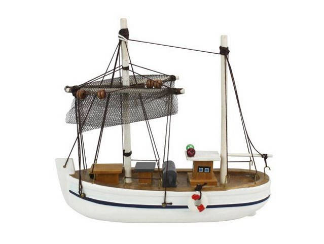 Wooden Fishing Impossible Model Fishing Boat 6