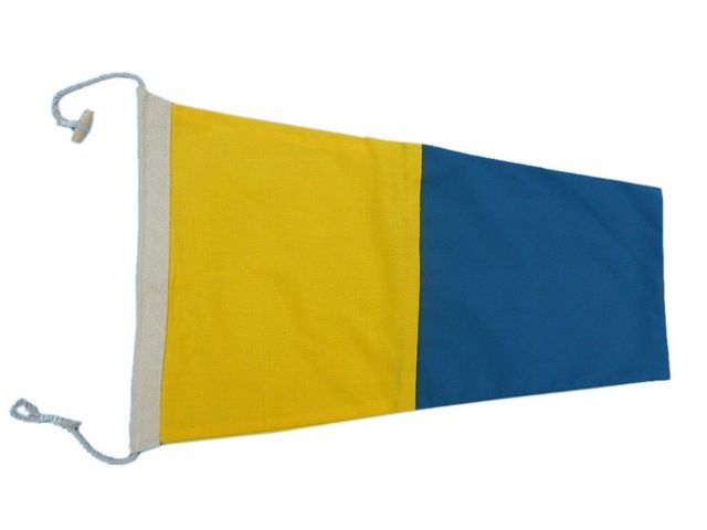Number 5 - Nautical Cloth Signal Pennant Decoration 20