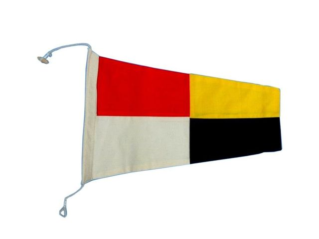 Number 9 - Nautical Cloth Signal Pennant Decoration 20