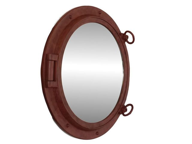 Rusted Iron Decorative Ship Porthole Mirror 24