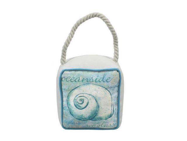 Ocean Blue Nautilus Sandbag Door Stop 6