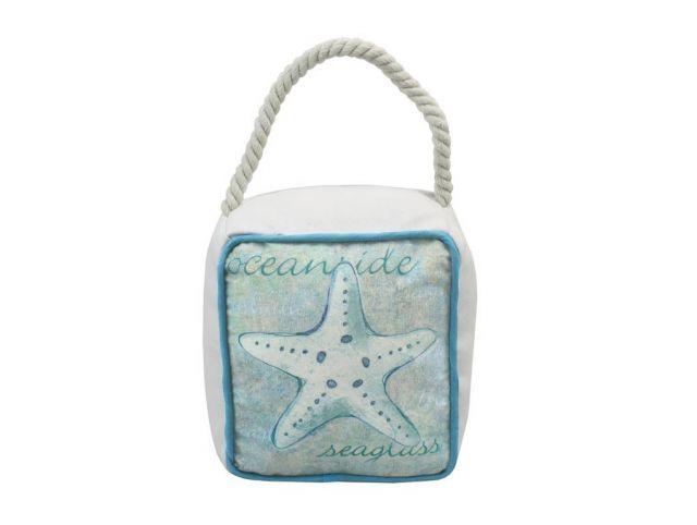 Ocean Blue Starfish Sandbag Door Stop 6