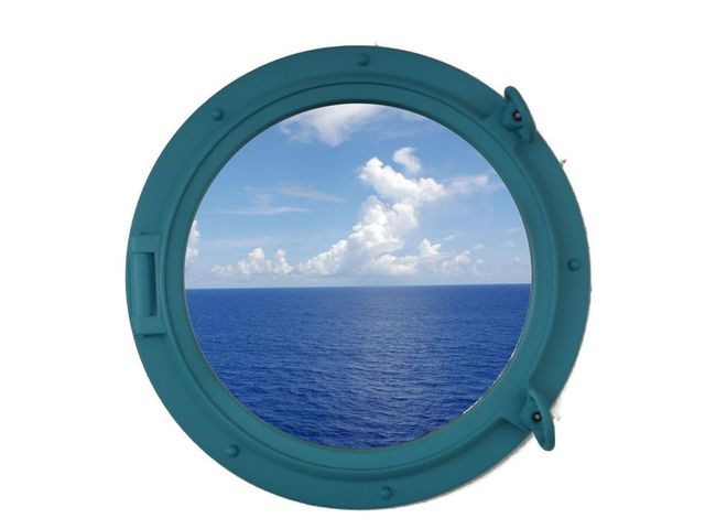 Light Blue Decorative Ship Porthole Window 15