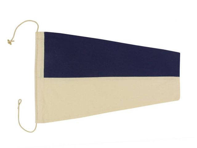 Number 6 - Nautical Cloth Signal Pennant Decoration 20
