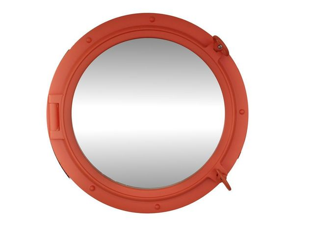 Orange Decorative Ship Porthole Mirror 24