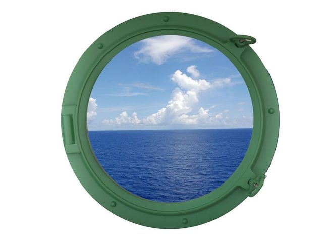 Seafoam Green Decorative Ship Porthole Window 24