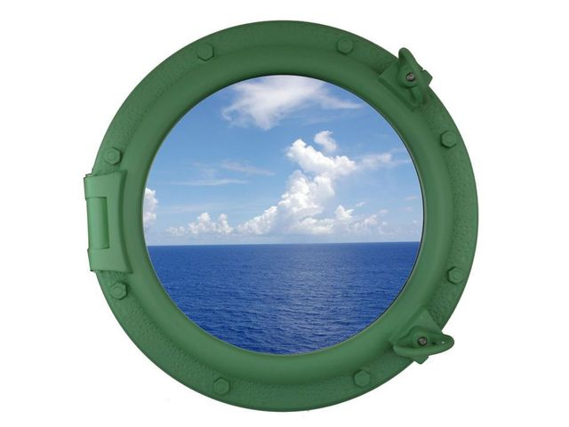 Seafoam Green Decorative Ship Porthole Window 20