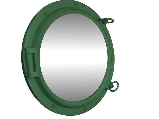 Seafoam Green Decorative Ship Porthole Mirror 24
