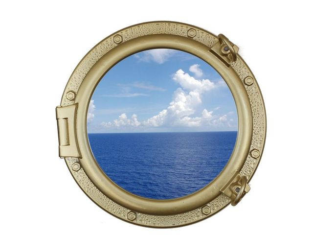 Gold Finish Decorative Ship Porthole Window 20