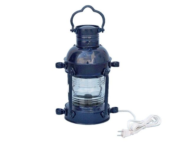 Iron Anchor Electric Lamp 15 - Dark Blue