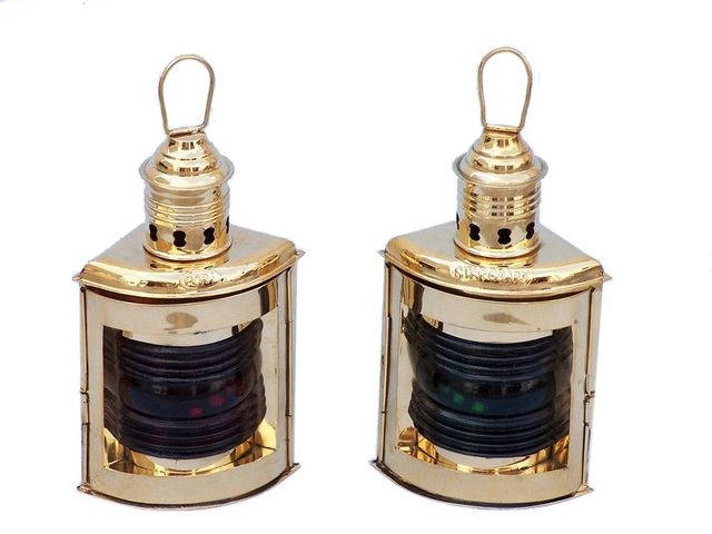 Solid Brass Port and Starboard Oil Lantern 12