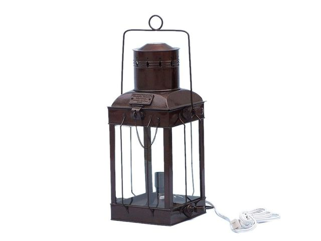 Antique Copper Cargo Electric Lamp 18